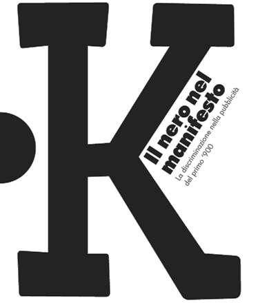 Locandina K - il nero nel manifesto